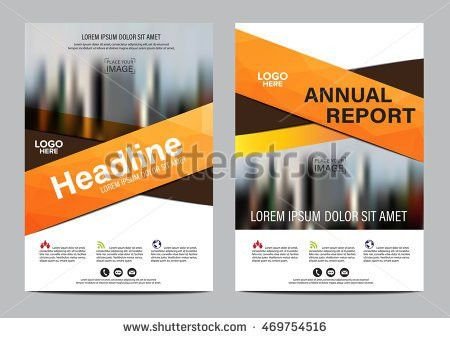 Red Annual Report Corporate Business Template Stock Vector ...