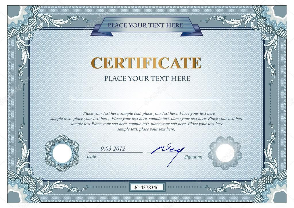 Certificate or coupon template — Stock Vector © Firin #60601295