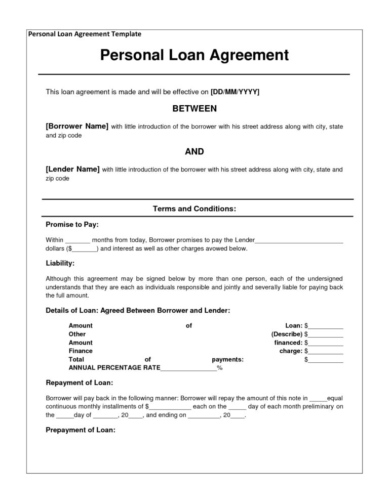 Loan Agreement and Form Templates : vlashed