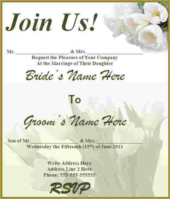Free Wedding Invitation Template.Free Online Invitation Template ...