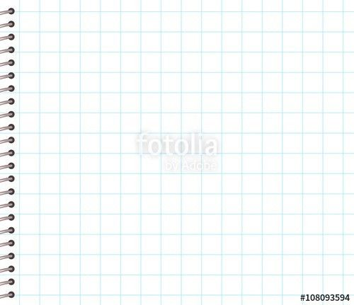 Blank Square Lined Notebook Paper with Spiral Bound Border on the ...