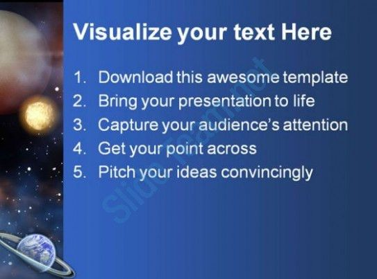 Space Science PowerPoint Template 0610 | PowerPoint Slides ...