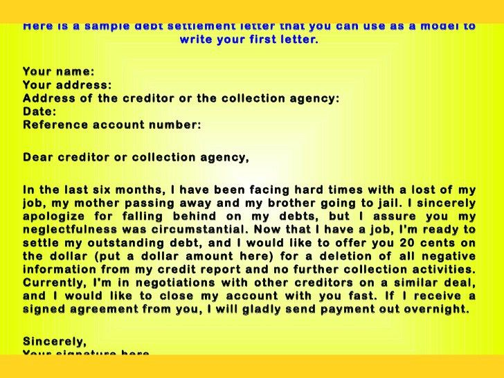 How to write a convincing debt negotiation letter
