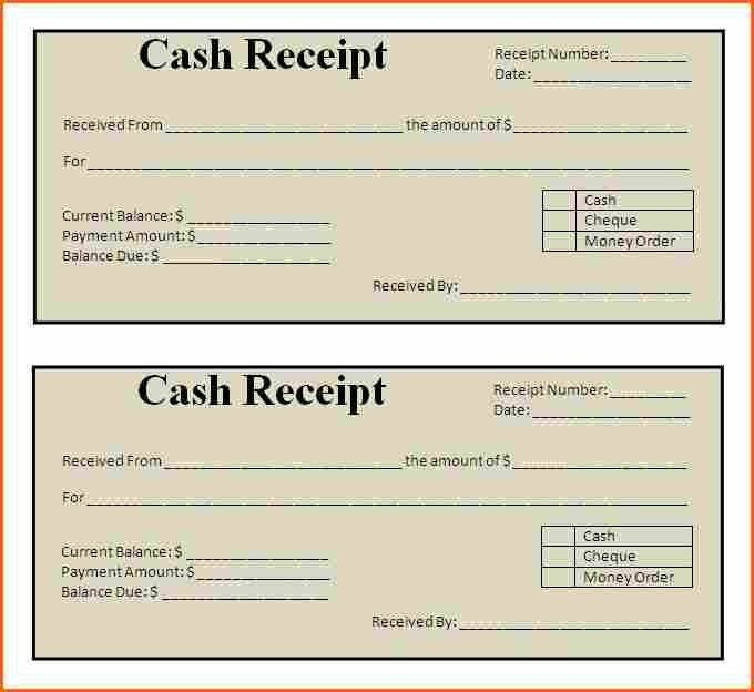 5+ payment receipt template - Budget Template Letter