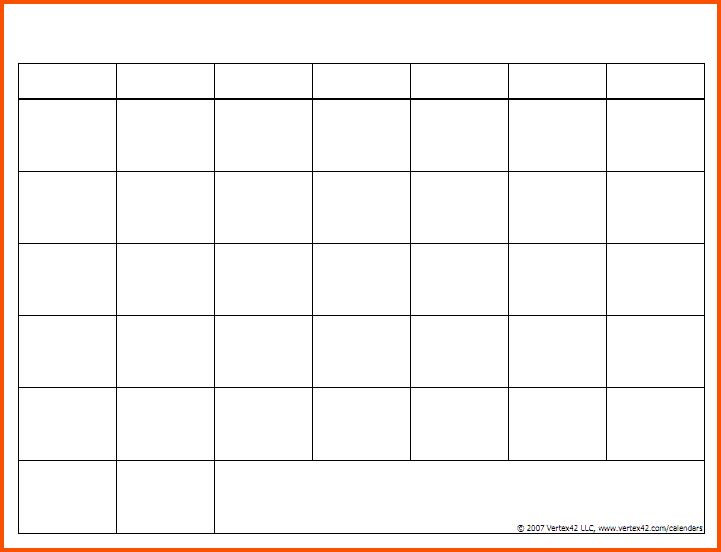 12+ blank calendar template | Survey Template Words