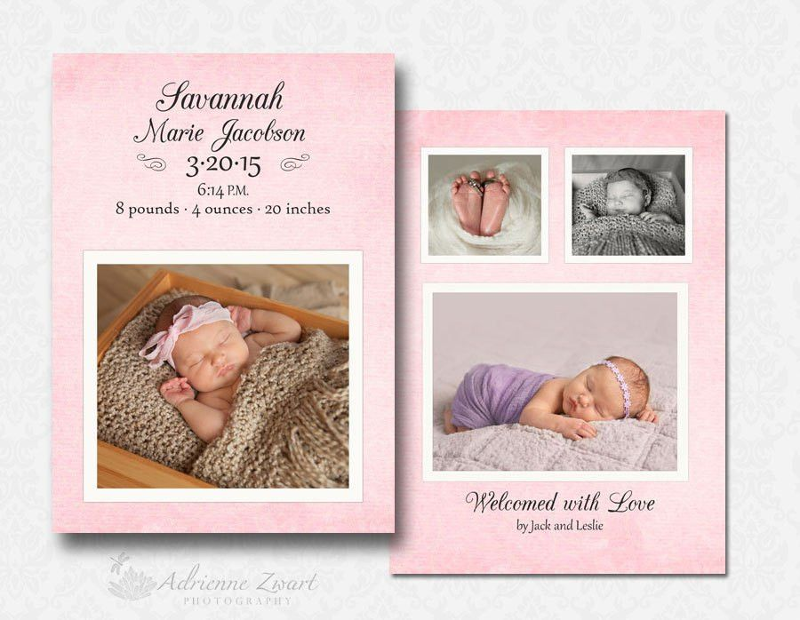 Baby Announcement Template Free Photoshop | Birth announcements ...
