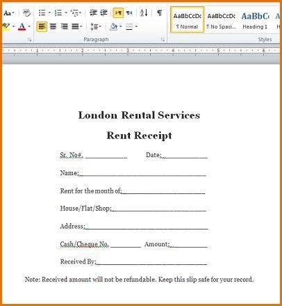 7+ rent receipt word | Job Resumes Word