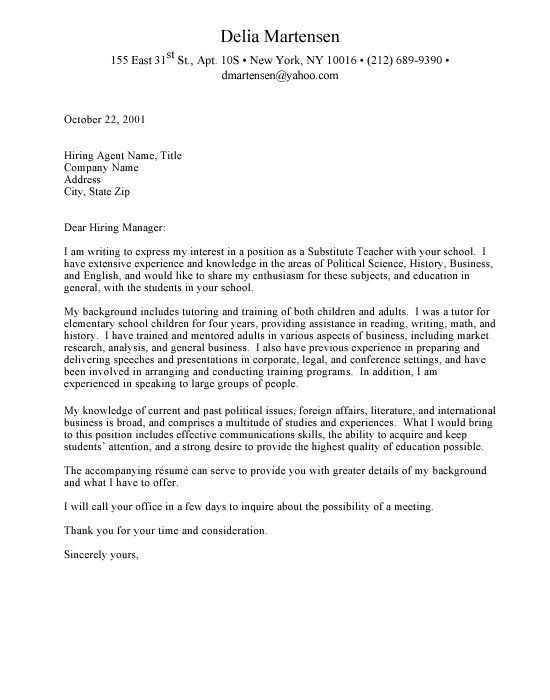 Cover Letter For Faculty Position | The Letter Sample