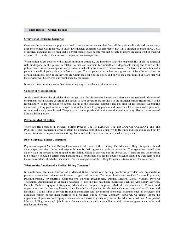 Medical Billing Simple Manual