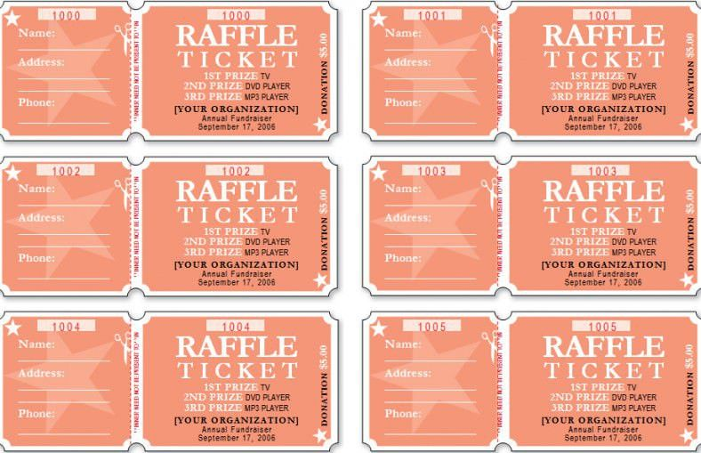 Raffle Ticket Template - Free Templates | Free & Premium Templates