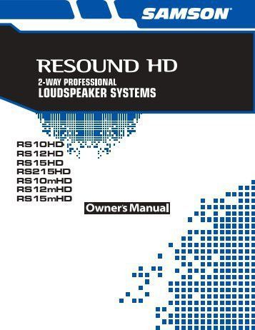 Download the Stage 5H English User Manual in PDF format - Samson