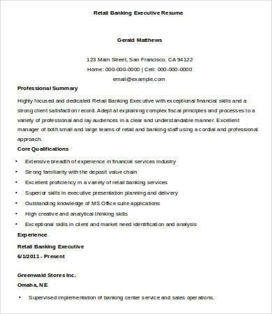 Sample Executive Resume   9+ Free Sample, Example, Format | Free .
