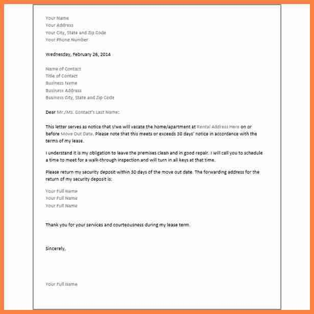 sample intent to vacate letter. 30 day notice template44388402png ...