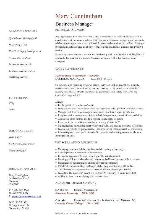 Download Business Resume Template | haadyaooverbayresort.com