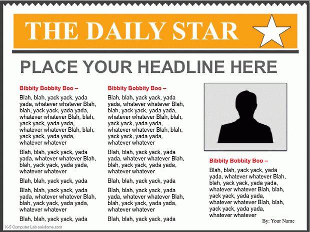 Newspaper Template Clipart (51+)