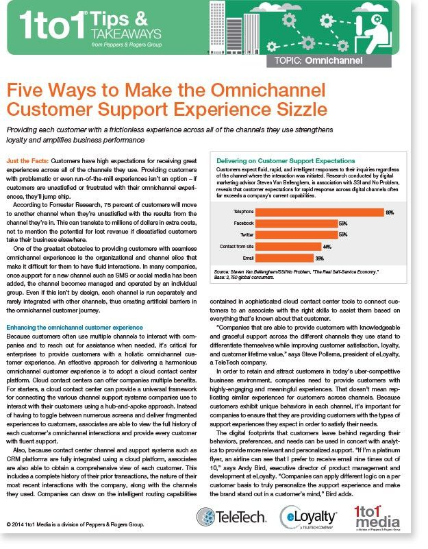 Five Ways to Make the Omnichannel Customer Support Experience ...