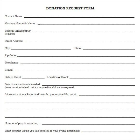 28+ Donation Request Form Template | 43 Free Donation Request ...