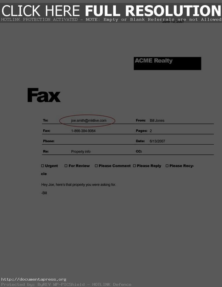 fax cover letter template word 2007