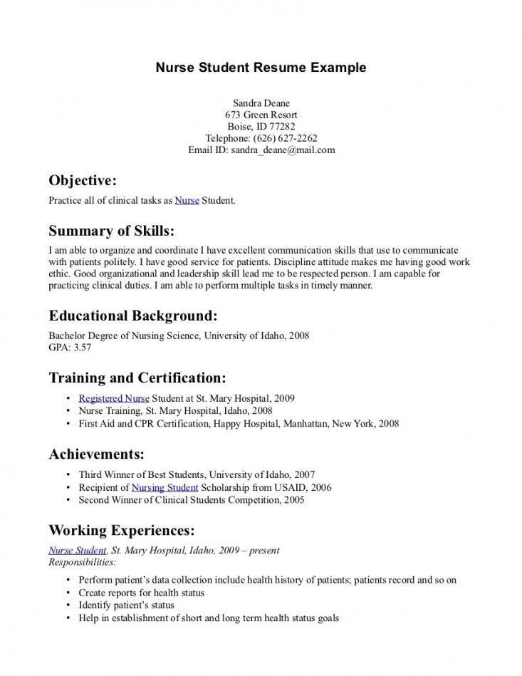 Nursing Resume Objective Examples. Nurse Resumes Free Resume ...