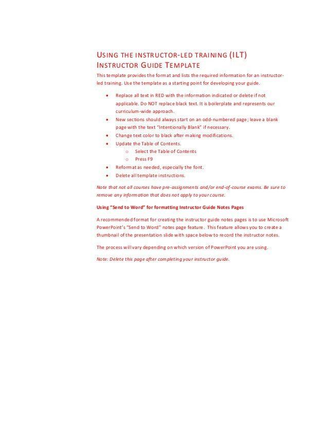 Quick Reference Guide Templates - Contegri.com