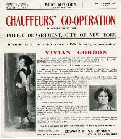 Wanted Poster for Vivian Gordon, Alias Benita Bischoff | Lloyd ...