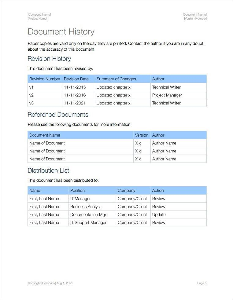 Standard Operating Procedure (SOP) Templates (Apple iWork Pages ...