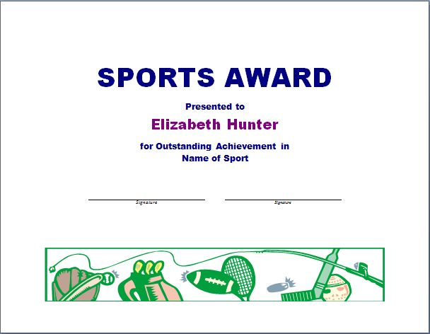Sports Award Template   Free Layout & Format