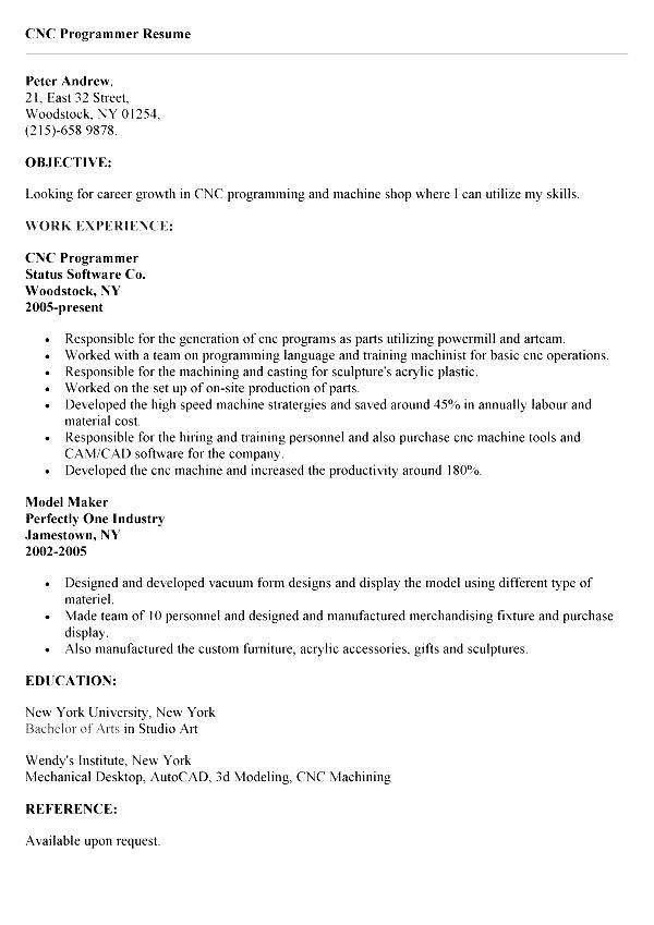Cnc Machinist Resume Samples Visualcv Resume Samples Database 2017 ...