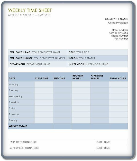Simple Weekly Timesheet PDF Format – Word & Excel Examples
