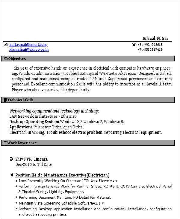 iti resume format automobile resume template 22 free word pdf