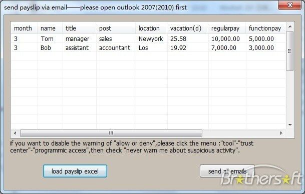 Download Free Outlook Helper for Excel Payslip, Outlook Helper for ...