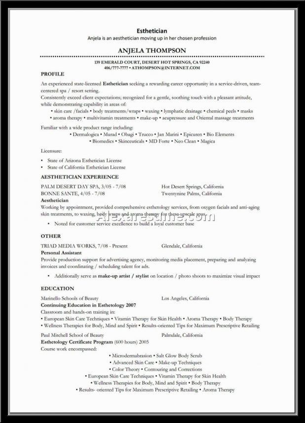 massage therapist resume template the sample resume for massage ...