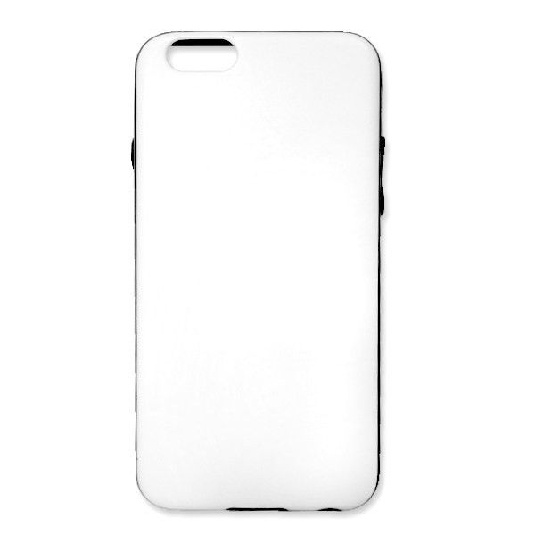 DISCONTINUED -Dual Material Cell Phone Case iPhone 6 – Blank White