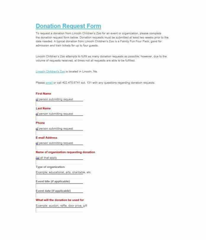 Donation Form Example | Jobs.billybullock.us