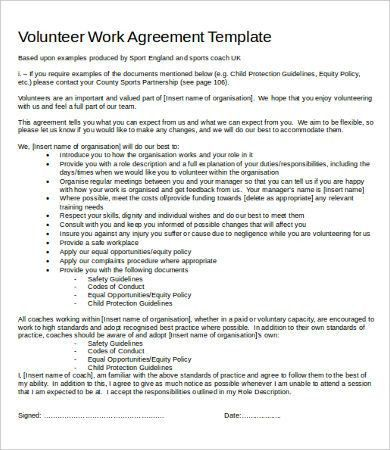 Work Agreement Template - 9+ Free Word, PDF Documents Download ...