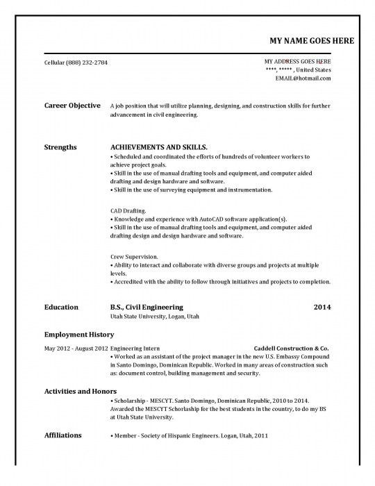 Online free resume samples free resume templates resume example