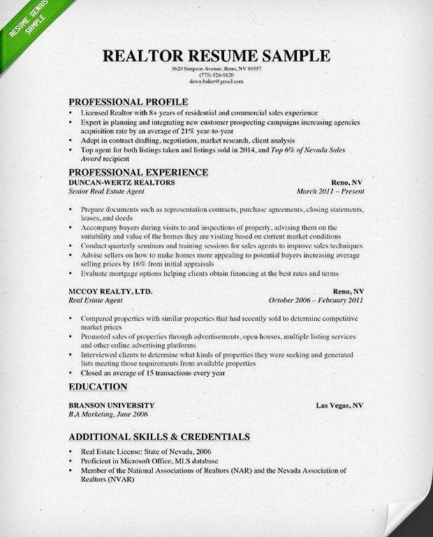 Marvellous Ideas Realtor Resume Examples 1 Real Estate Resume ...