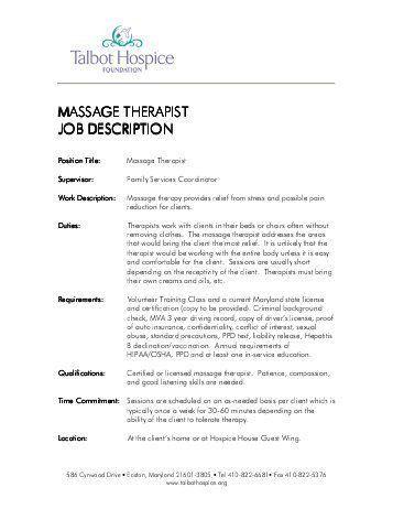 Job Description For Massage Therapist. Http S934 Photobucket Com ...