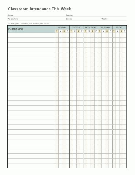 6+ Attendance List Templates - Word Excel PDF Templates