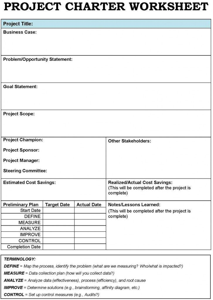 Project Charter Template | ferramentas e metodologias | Pinterest ...