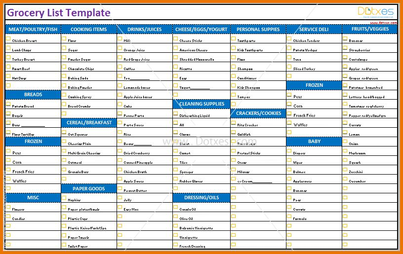 Grocery List Templates.Printable Grocery List Template.png | Scope ...