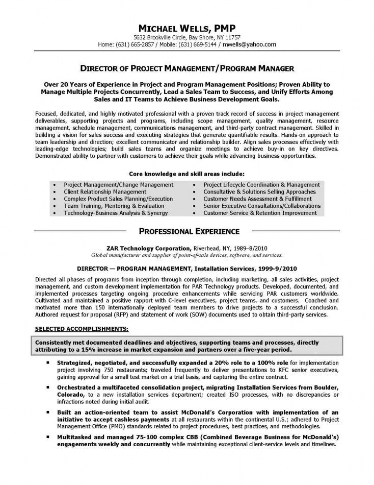 Managing Director Resume Example | Resume Template Free