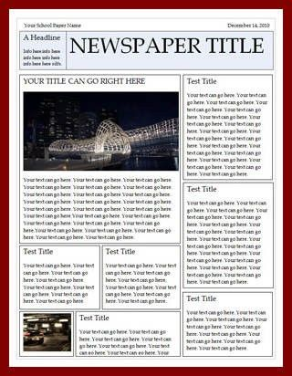 11+ newspaper template for word | sendletters.info