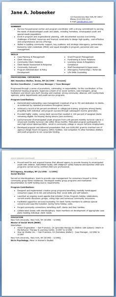 Social Worker Resume Template - This CV template gives you an idea ...