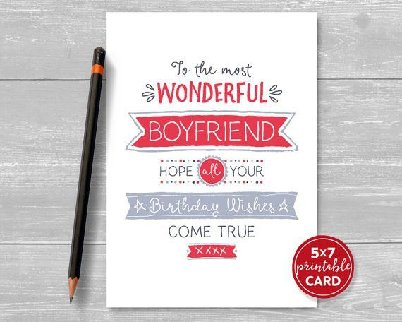 Printable Birthday Card For Boyfriend To by TheLittleRedCherry ...