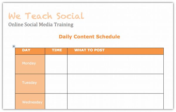 Beginners Guide To Creating A Social Media Content Schedule + Free ...