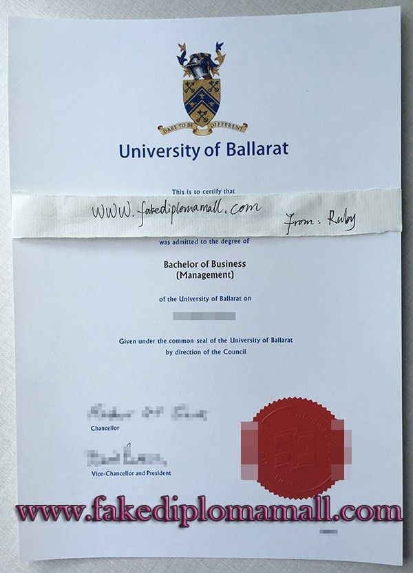 buy a fake bachelor degree from University of Ballarat in ...