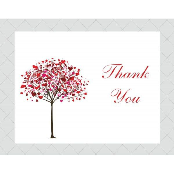 Tree Thank You Cards - Style 501 - whimsicalprints.com
