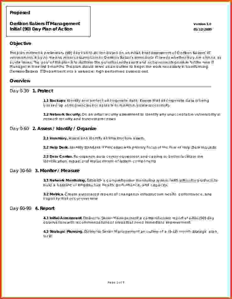 100+ 90 Day Business Plan Template | 30 60 90 Day Plan Templates ...