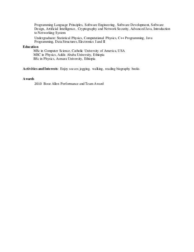 Software Engineer Resume - Elias Abebe
